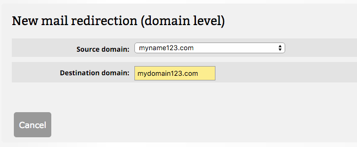 domain-mail-redirection