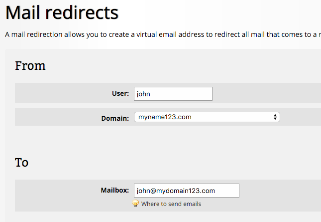 mail-redirection