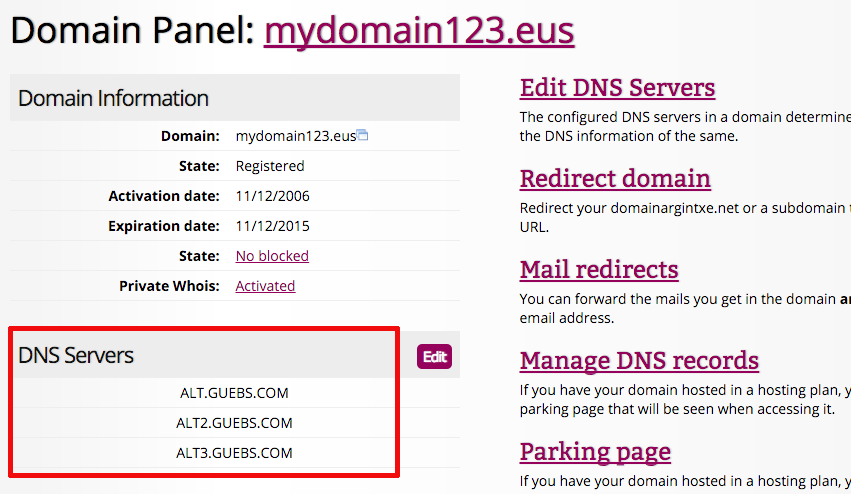 How to create URL redirection from the Domain Panel | Help